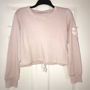 Fashionable Woman's Light Pink Crop Top